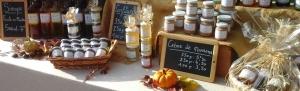 stand ; marché ; les vergers de kethevane ; kethevane letrange; confitures; gelées; apéritifs; sirops; liqueurs; produits naturels
